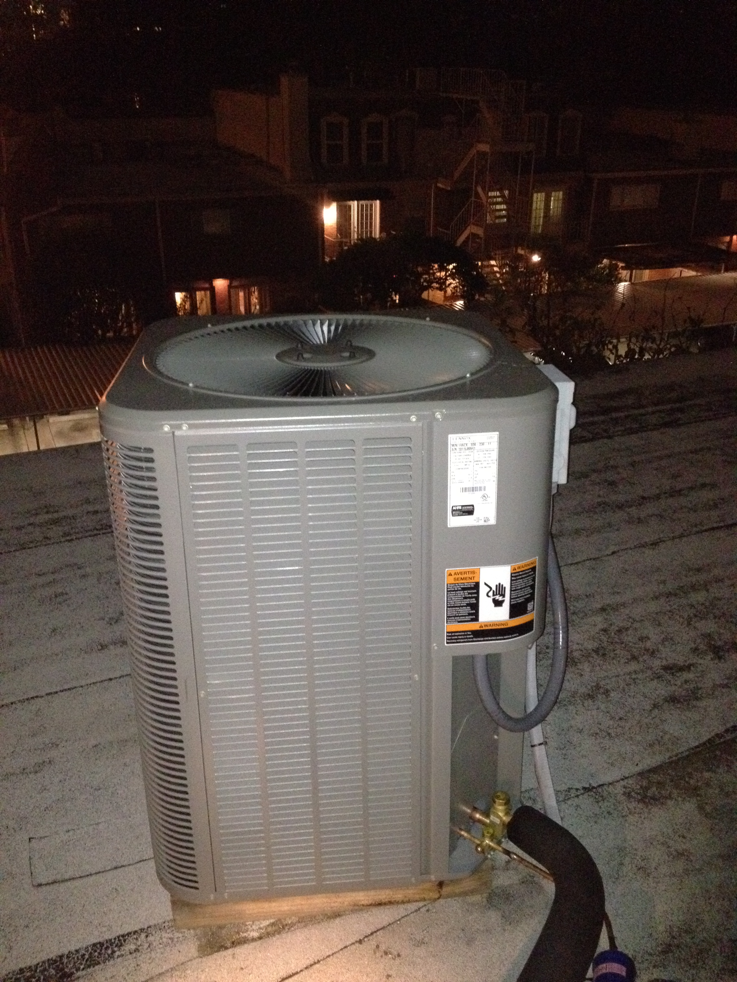 lennox condenser. residential projects » condenser on roof lennox